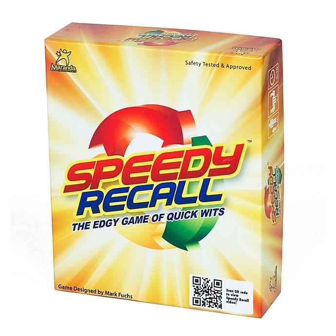 Alternate image 1 for Maranda Enterprises, LLC Speedy Recall Card Game