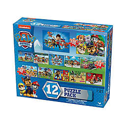 Cardinal Paw Patrol 24, 48, and 100-Piece 12-Pack Blue Box Jigsaw Puzzles