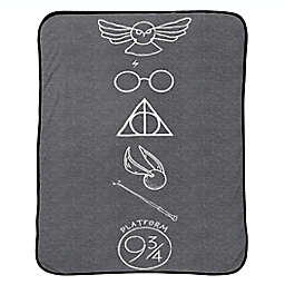 Harry Potter Symbols Throw Blanket