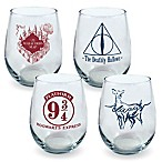 Harry Potter Classic Elements Curved Table Glasses (Set of 4)