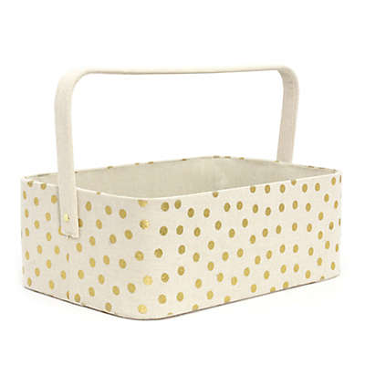 Taylor Madison Designs® Gold Dots Diaper Caddy