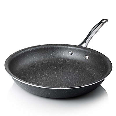 Granite Rock™ Titanium Nonstick Aluminum Round Fry Pan in Black