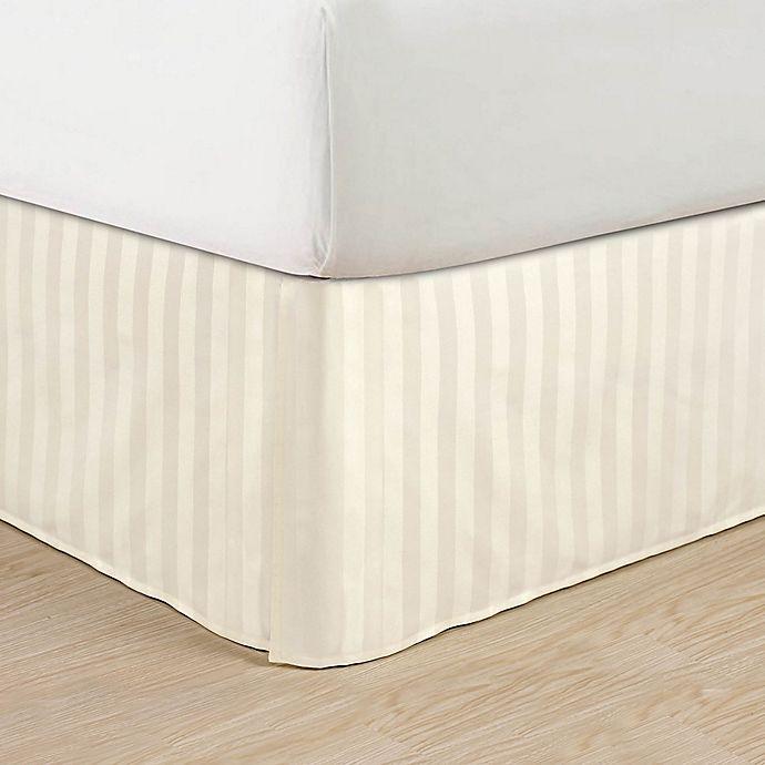 Alternate image 1 for Elegant Comfort Stripe Queen Bed Skirt in Ivory