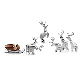 Nambe Miniature Reindeer Collection