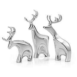 Nambe 3-Piece Miniature Dasher Reindeer Set