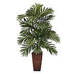 Nearly Natural 32-Inch Areca Palm Silk Plant with Bamboo Vase