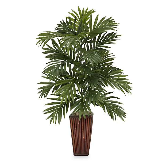 Alternate image 1 for Nearly Natural 32-Inch Areca Palm Silk Plant with Bamboo Vase