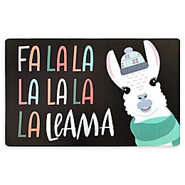 "Home Dynamix Cook N Comfort 20"" x 32"" Anti-Fatigue Llama Holiday Kitchen Mat"
