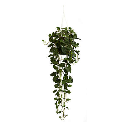 Nearly Natural 36-Inch Philodendron Silk Plant Hanging Basket
