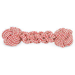 Harry Barker Skipper Rope Pet Toy in Red/White