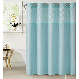 Hookless® Bahamas Eyelet Shower Curtain in Crystal
