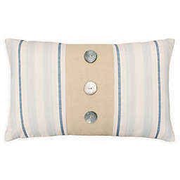Laura Ashley® Hadley Decorative Pillow in White/Blue