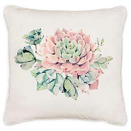 Boho Living Desert Sunset Decorative Pillow in White