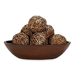 Nearly Natural 3.75-Inch Decorative Balls (Set of 6)