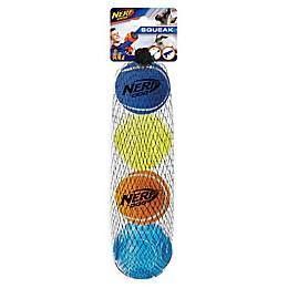 Nerf® Dog 4-Piece Squeak Tennis Ball and Sonic Ball Set