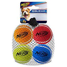 Nerf Dog 4-Pack 2-Inch Squeak Tennis Balls