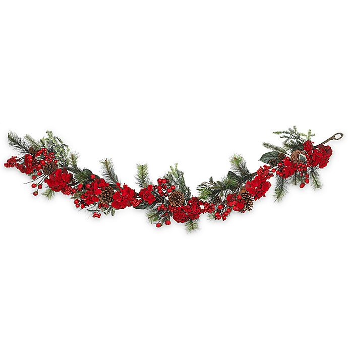 Alternate image 1 for Nearly Natural 6-Foot Faux Hydrangea Garland