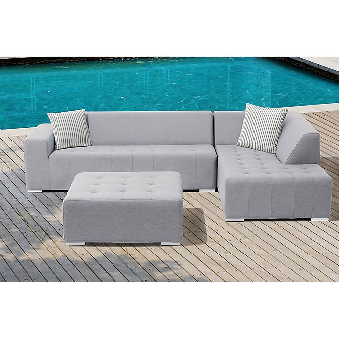 Alternate image 1 for Eden 3-Piece Outdoor Sectional Set in Grey