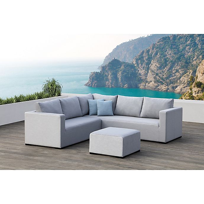 Alternate image 1 for Ego 3-Piece Outdoor Sectional Set in Grey