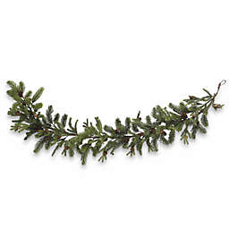 Nearly Natural 5-Foot Faux Pine & Pinecone Garland in Green