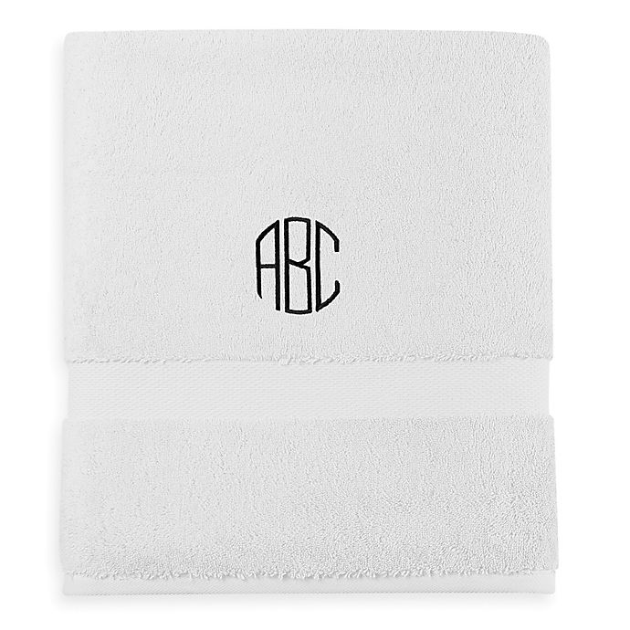 Alternate image 1 for Wamsutta® Personalized 805 Turkish Cotton Bath Towel in White
