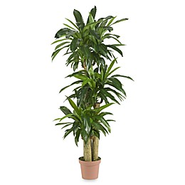 Nearly Natural Real Touch Indoor/Outdoor 57-Inch Tropical Silk Dranaena Plant in Green