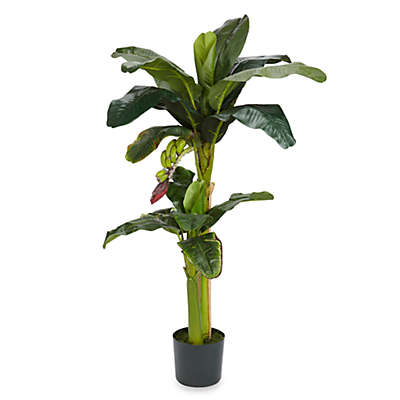 "Nearly Natural 5"" & 3"" Silk Banana Tree w/Bananas"