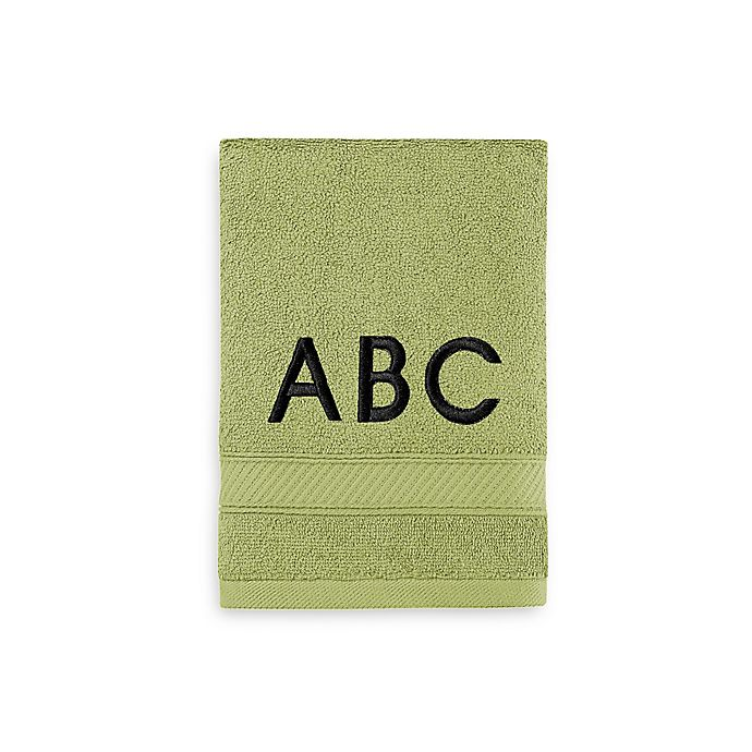 Alternate image 1 for Wamsutta® Personalized Hygro® Duet Hand Towel in Pear