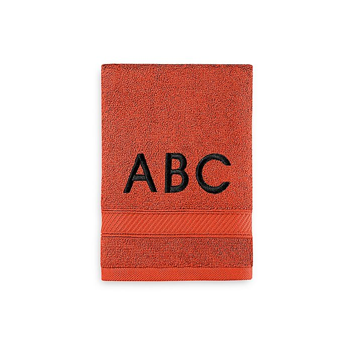 Alternate image 1 for Wamsutta® Personalized Hygro® Duet Hand Towel in Paprika