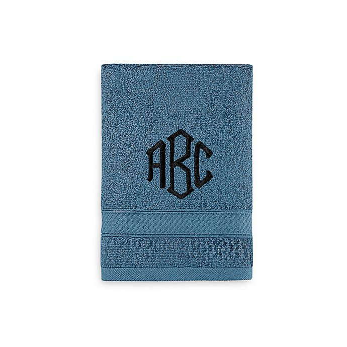 Alternate image 1 for Wamsutta® Personalized Hygro® Duet Hand Towel in Teal