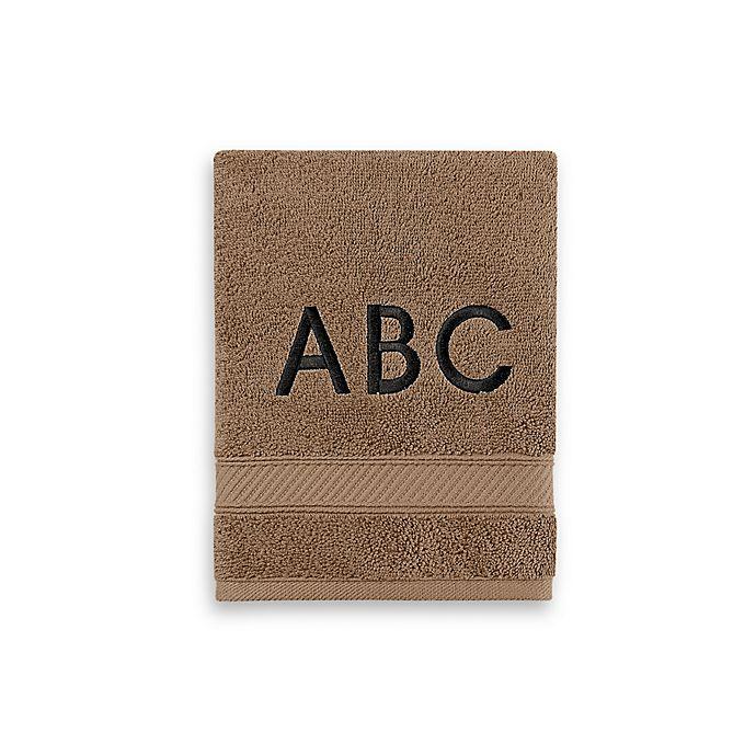 Alternate image 1 for Wamsutta® Personalized Hygro® Duet Hand Towel in Latte