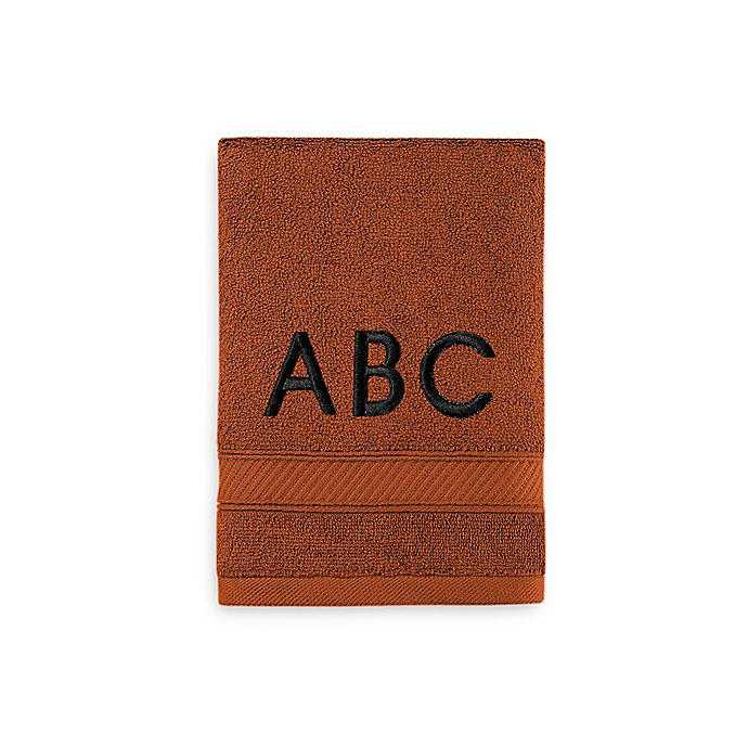 Alternate image 1 for Wamsutta® Personalized Hygro® Duet Hand Towel in Spice