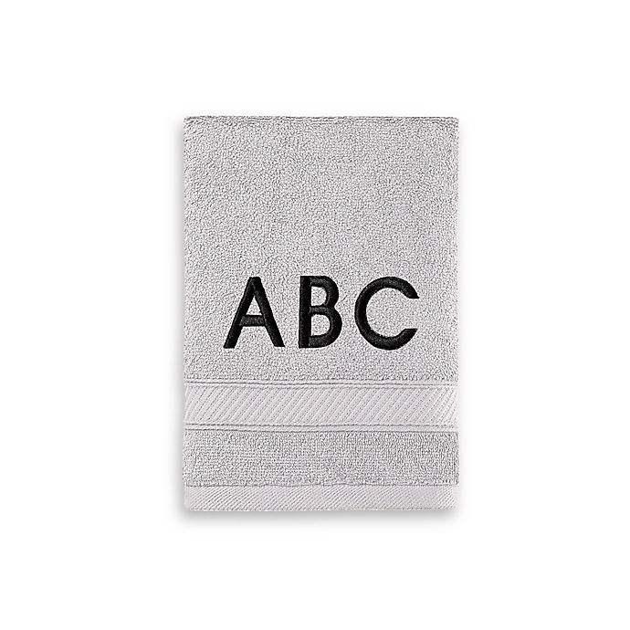 Alternate image 1 for Wamsutta® Personalized Hygro® Duet Hand Towel in Chrome