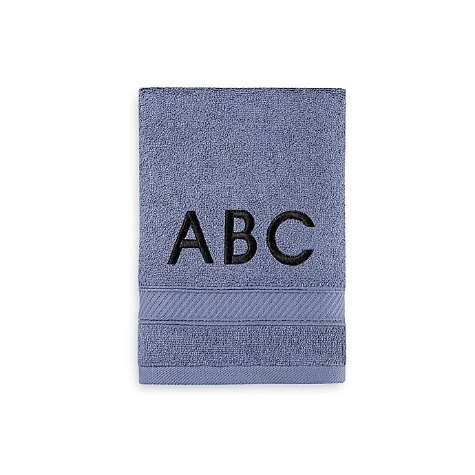 Alternate image 1 for Wamsutta® Personalized Hygro® Duet Hand Towel in Slate