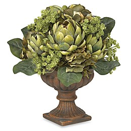 Nearly Natural 21-Inch Silk Artichoke Flower Centerpiece