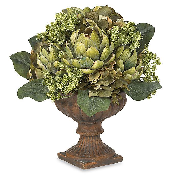Alternate image 1 for Nearly Natural 21-Inch Silk Artichoke Flower Centerpiece