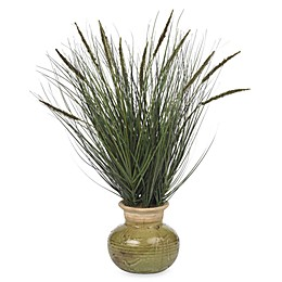 Nearly Natural 27-Inch Silk Grass Plant With Mini Cattails