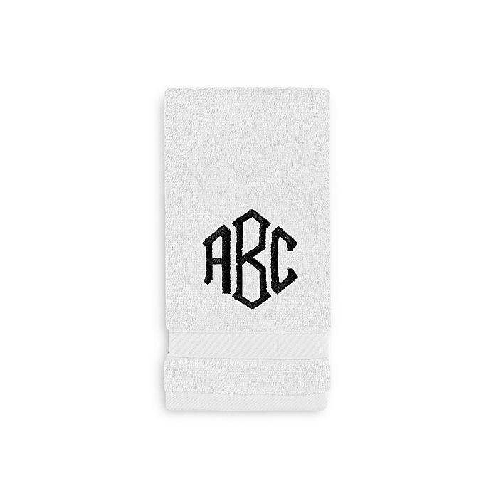 Alternate image 1 for Wamsutta® Personalized Hygro® Duet Fingertip Towel in White