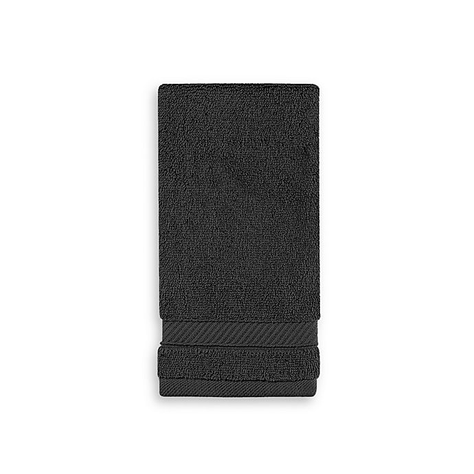 Alternate image 1 for Wamsutta® Hygro® Duet Fingertip Towel in Ebony