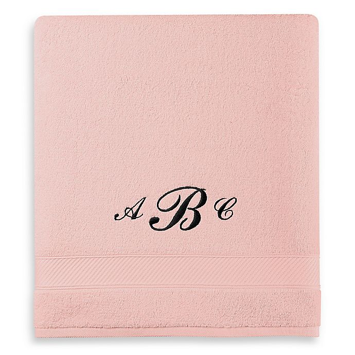 Alternate image 1 for Wamsutta® Personalized Hygro® Duet Bath Sheet in Rose Quartz