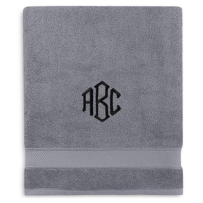 Alternate image 1 for Monogrammed  Wamsutta® Hygro® Duet Bath Sheet