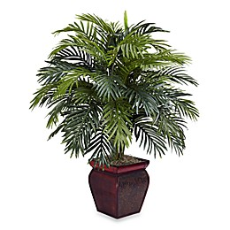 Nearly Natural 3-Foot Silk Areca Palm Plant With Pot