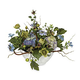 Nearly Natural 14-Inch Silk Hydrangea Centerpiece