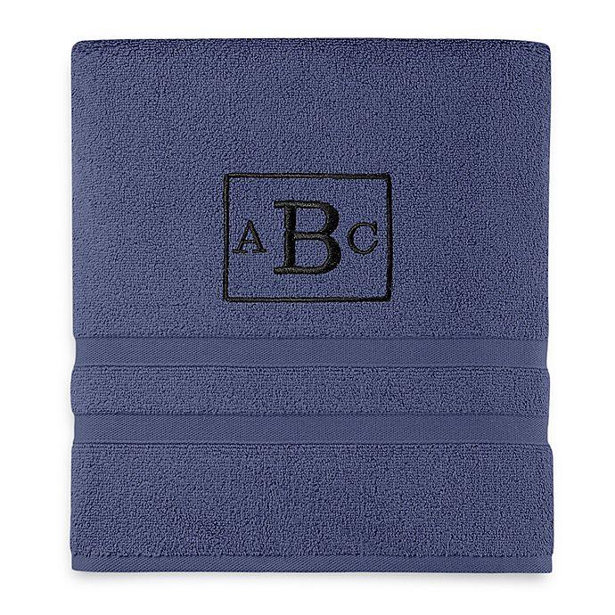 Alternate image 1 for Wamsutta® Personalized Ultra Soft MICRO COTTON Bath Towel in Denim Blue