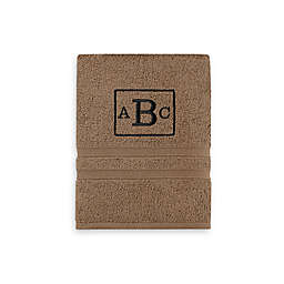 Monogrammed  Wamsutta® Ultra Soft MICRO COTTON Hand Towel in Tiger Eye