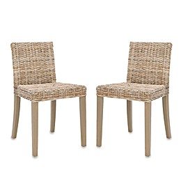 Safavieh Tulum Side Chairs in Grey Wash (Set of 2)