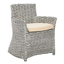 Safavieh Cabana Arm Chair in Grey White Wash