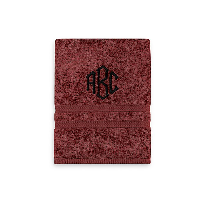Alternate image 1 for Monogrammed  Wamsutta® Personalized Ultra Soft MICRO COTTON Hand Towel in Garnet