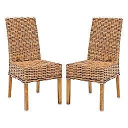 Safavieh Sanibel Side Chairs in Brown (Set of 2)