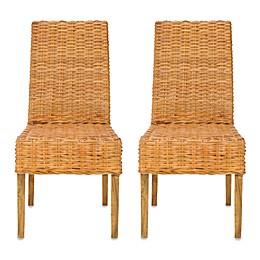 Safavieh Sanibel Side Chairs - Honey (Set of 2)